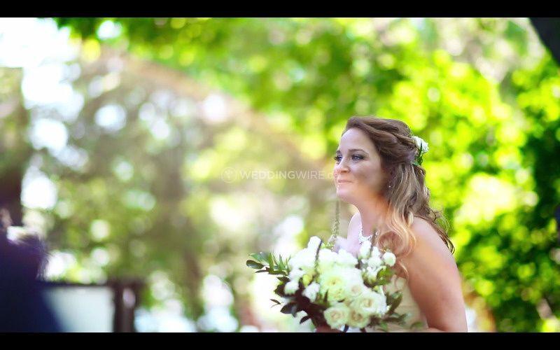 Still from a wedding video