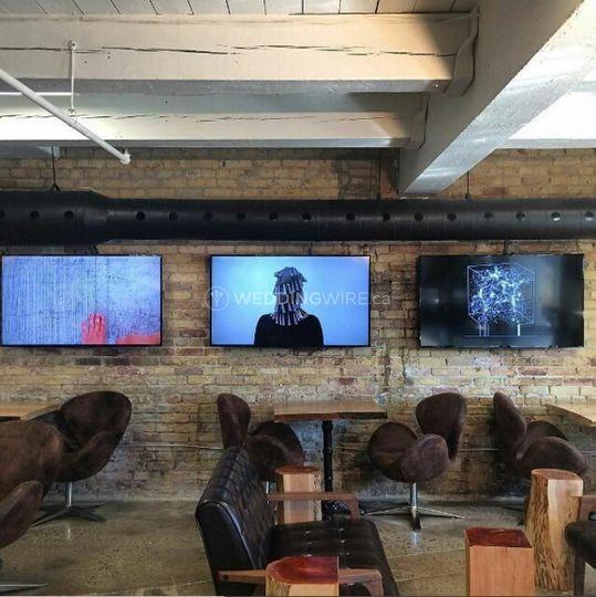 Main coffee bar space