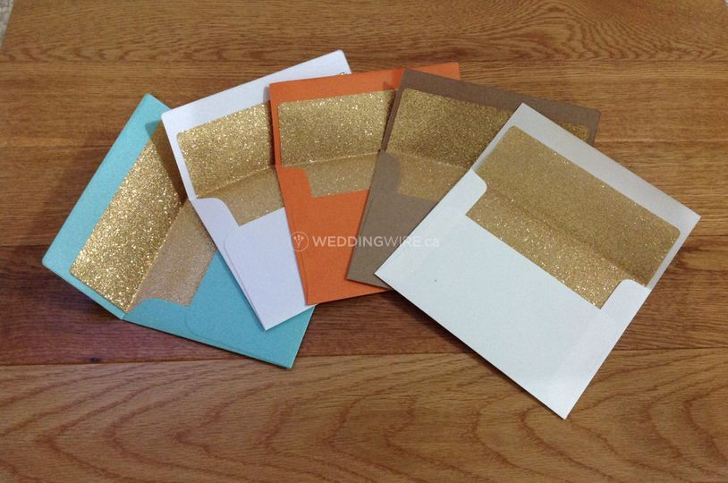 Glitter Lined Envelopes