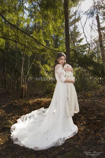 Bride and her Baby