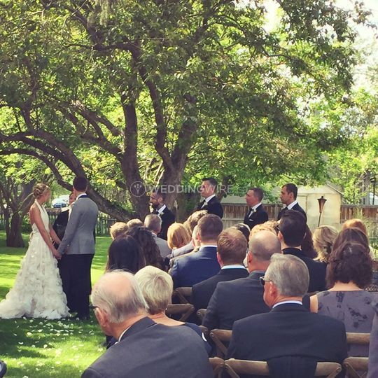 Outdoor Wedding Ceremony Calgary: Rouge Restaurant