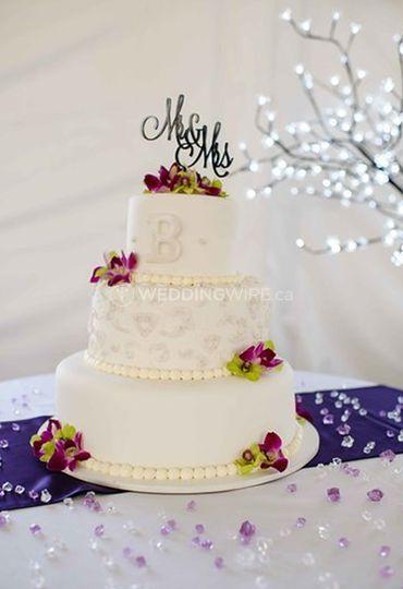 Beautiful Tented Wedding Cake