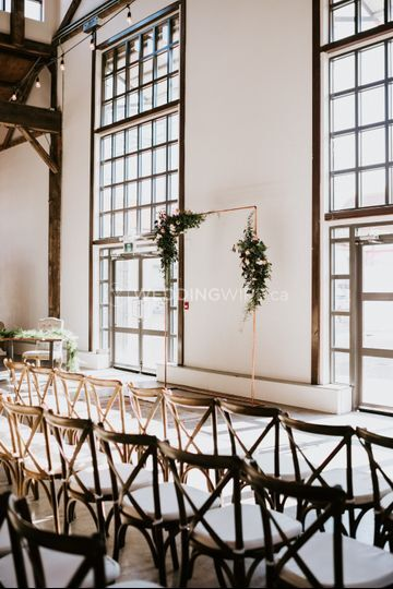 Industrial wedding at the pipe