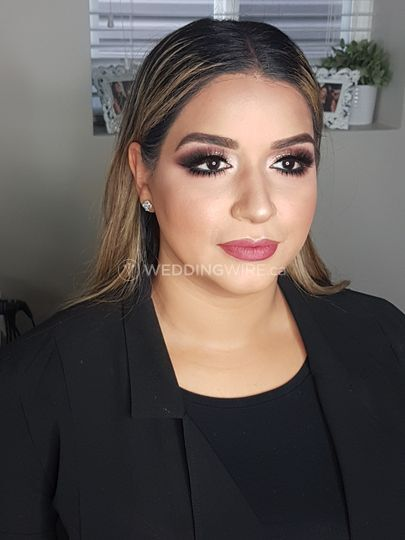 Heavy reception Makeup