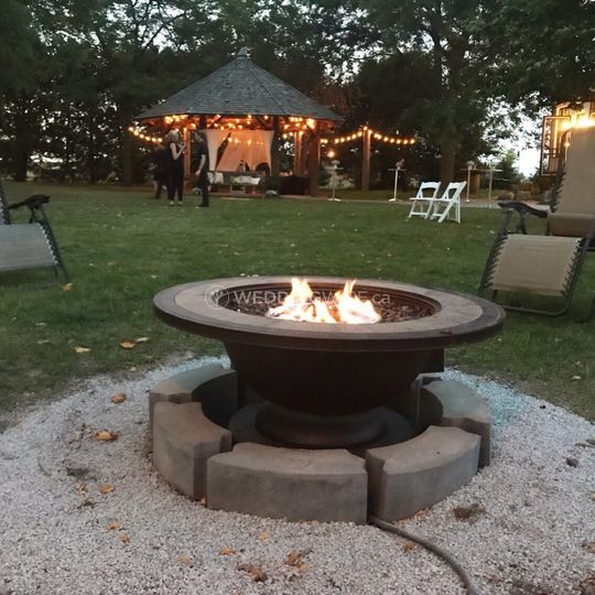 View of fire pit