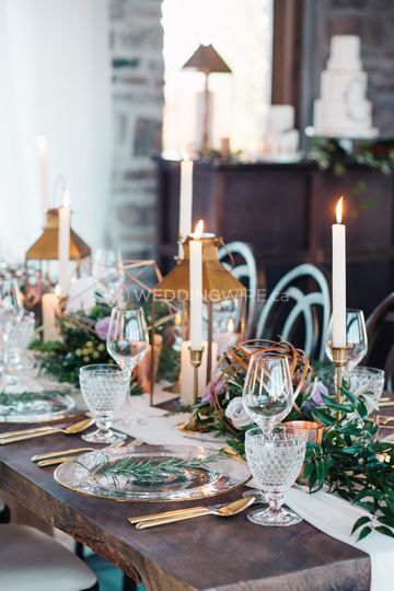 Rustic winery tablescape