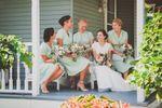 Bride & bridesmaids on porch
