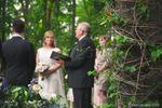 Bride during outdoor ceremony