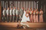 Wedding Party in barn