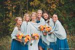 Bridesmaids in shawls