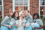 Winter bridesmaids portrait