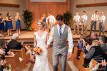Bride & Groom walk down aisle