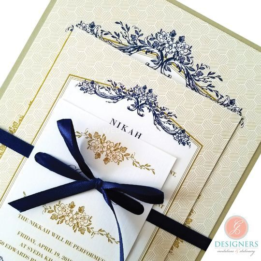 Navy Blue+Brown Invite