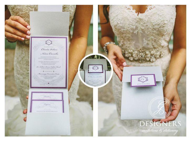 Silver Pocket Fold Invite