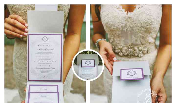 Silver Pocket Fold Invite