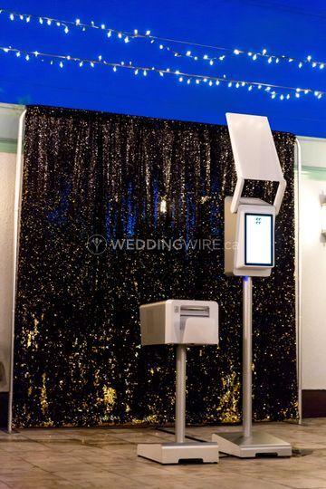 Modern booth