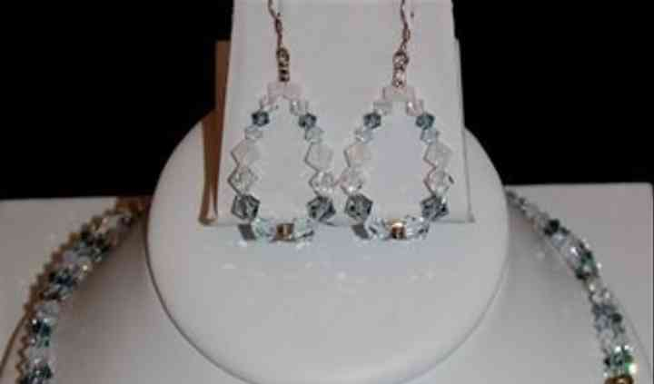 20005 - London Fog sterling silver & Swarovski crystal necklace set.JPG