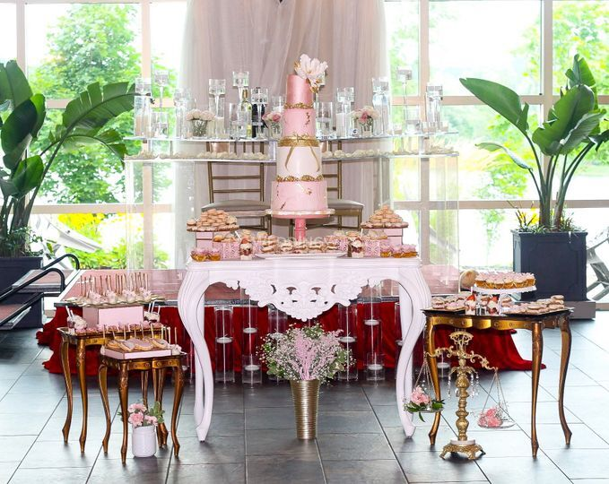 Blush and Gold Dessert Table