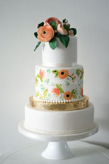 Hand painted cocoa butter cake