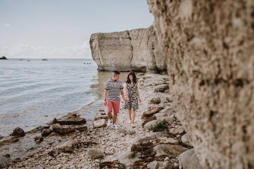 Beach/Cliffside Engagement