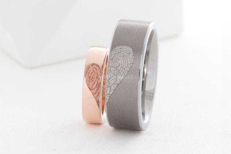 Heart Fingerprint Bands