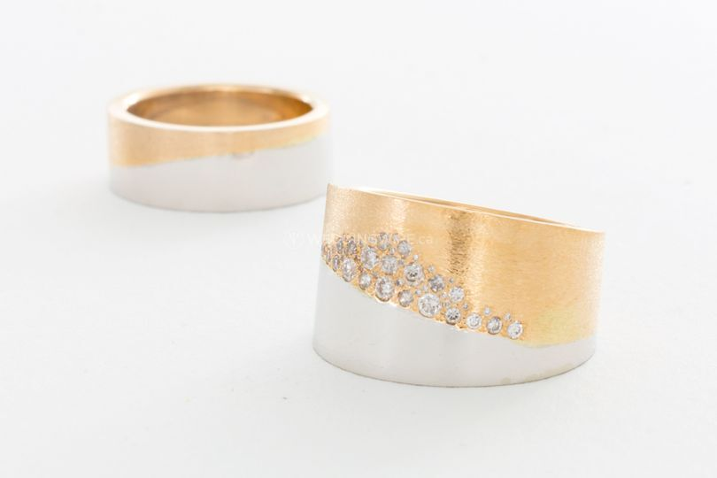 White Yellow Gold Bands
