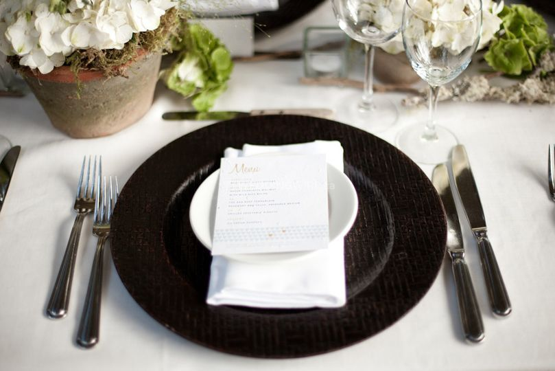 Vancouver wedding planning place setting
