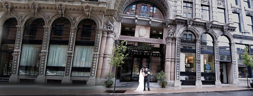 Old Montreal hotel wedding