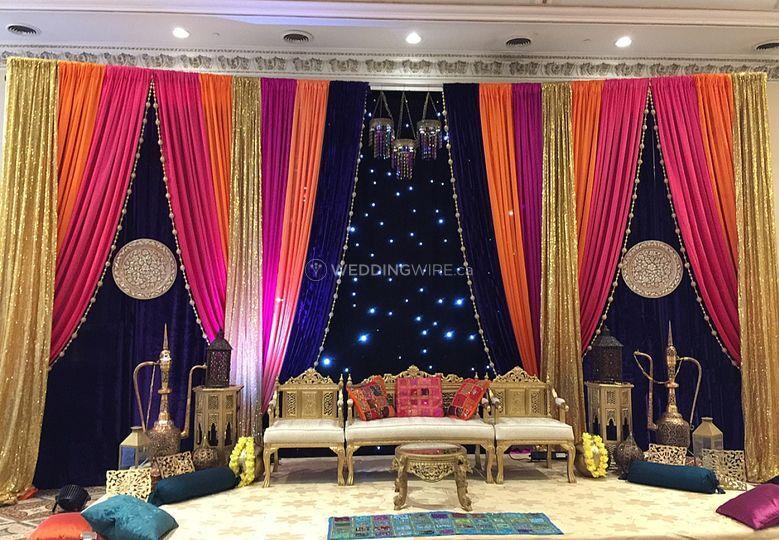 Mehndi Night Backdrop