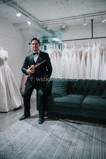 Wedding Violinist Darcy Stamp