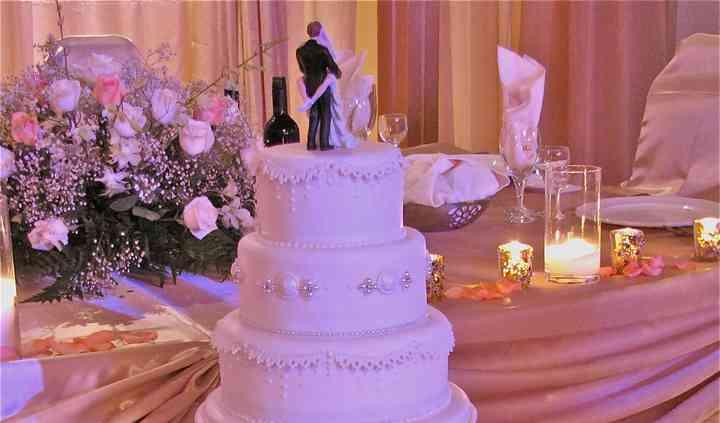5 tiered wedding cake