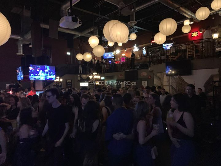The dance floor is full