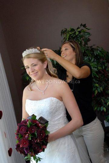 On The Job Bridal Hair