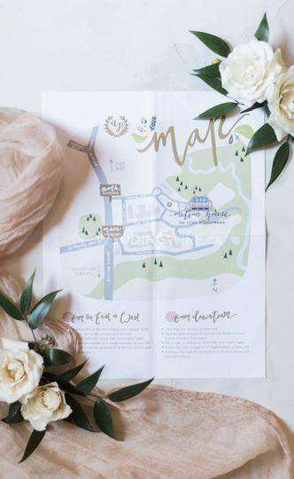 Wedding Invitation-Map Design