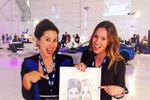 Caricatures at a beauty event