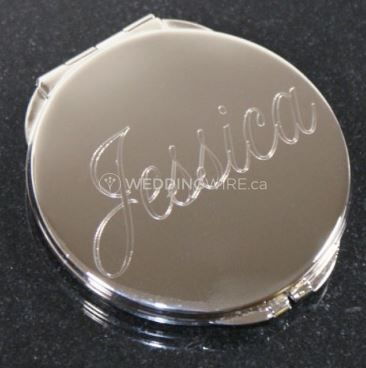 Engraved Glitter Galore Compact Mirro