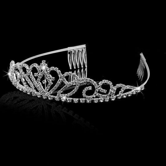 Rhinestone heart tiara