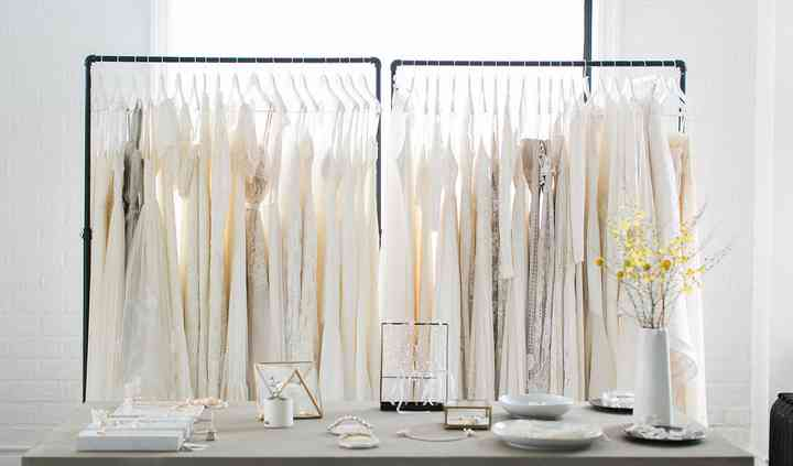 Our racks of beautiful gowns