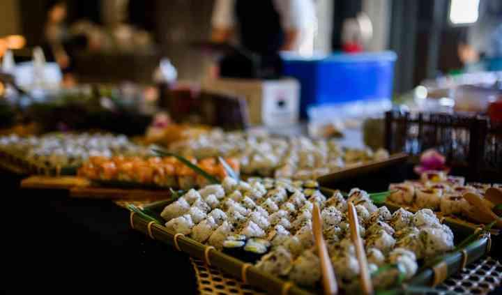 So6alh0vrprigm (1 tuna, 1 salmon, 1 yellowtail, 1 crab stick, 1 surf clam, 1 white tuna, 1 mackerel) $16.95. https www weddingwire ca wedding catering ms sushi catering e54725