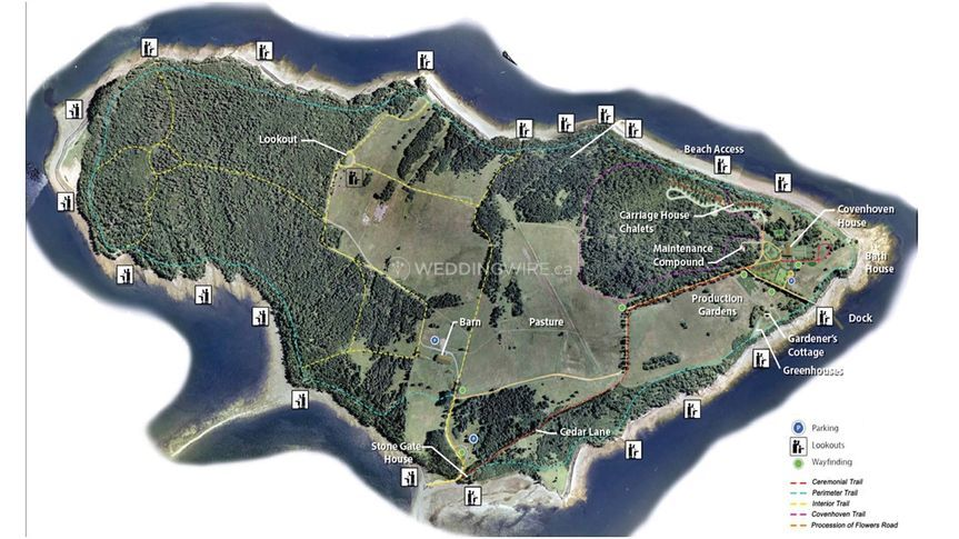 Map of Ministers Island