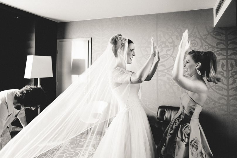 Photo of bride and friend
