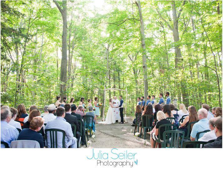 A Rustic, Woodsy Wedding