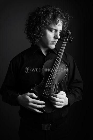 Duncan Cameron with Violin