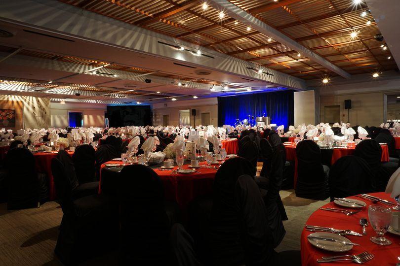 Ballroom, formal dinner