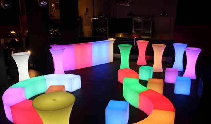 LED lounge areas