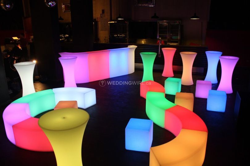 LED lounge areas