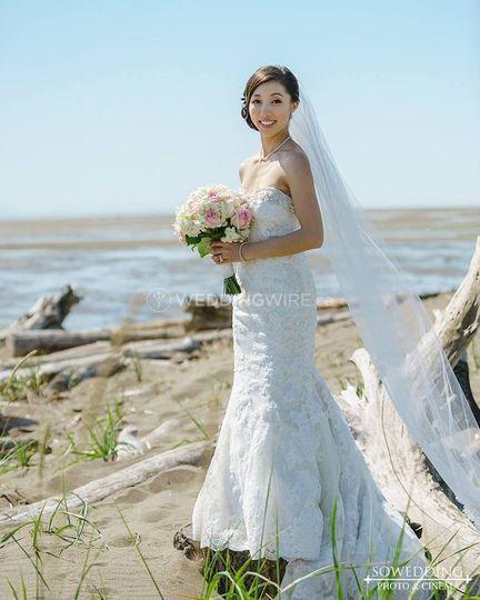 Seaside Wedding Gown
