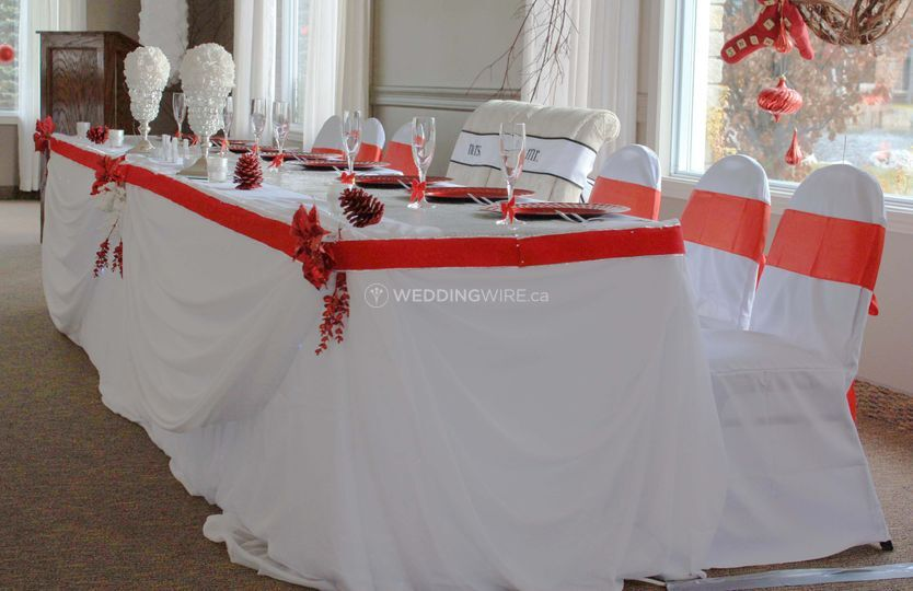 Head Table Design & Set-up