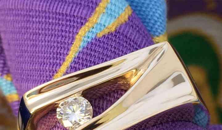 Custom Omori Engagement Ring a