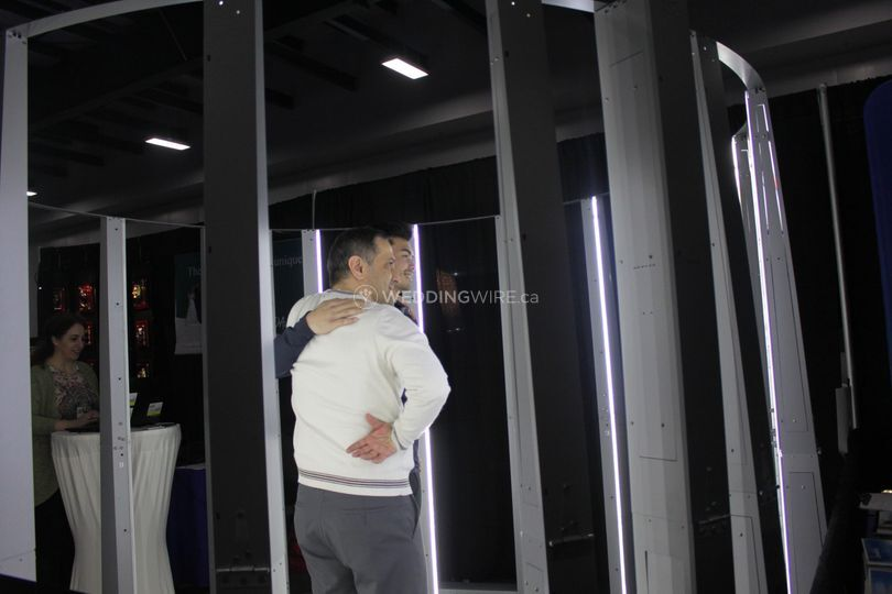 3D Scanning booth in action